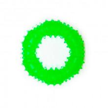 Игрушка для собак Кольцо с шипами зеленое с запахом ванили 9 см FOX TF-019