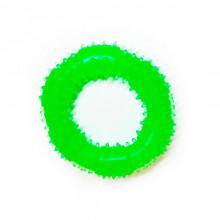 Игрушка для собак Кольцо с шипами зеленое с запахом ванили 12 см FOX TF-024