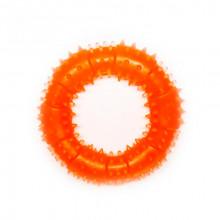 Игрушка для собак Кольцо с шипами оранжевое с запахом ванили 12 см FOX TF-025