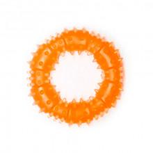 Игрушка для собак Кольцо с шипами оранжевое с запахом ванили 9 см FOX TF-020
