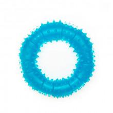 Игрушка для собак Кольцо с шипами синее с запахом ванили 12 см FOX TF-023