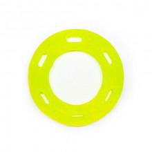 Игрушка для собак Кольцо с 6 сторонами желтое с запахом ванили 12 см FOX TF-027