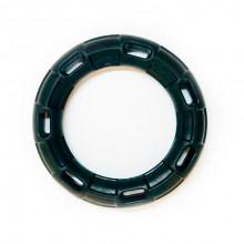 Игрушка для собак Кольцо с 6 сторонами черное с запахом ванили 15 см FOX TF-031
