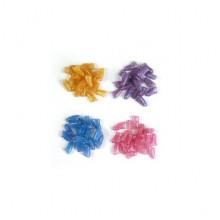 Колпачки для когтей Коготки S цветные 2,5-4 кг с кристаллами люминесцентные разноцветные