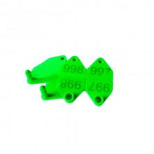 Бирка ушная  номерная 66*34мм двойная зеленая №100 3075