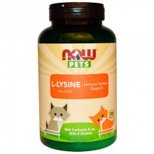 Лизин для кошек L-Lysine Now Foods Now Pets 226,8 г