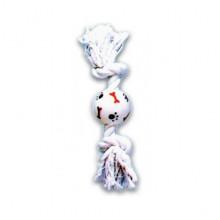 Игрушка для собак Грейфер белый двухузловой мяч лапки 12 см 50 XJ0058