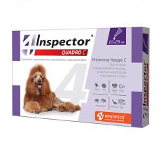 Капли инсектоакарицидные для собак 10-25 кг Инспектор С QUADRO С Экопром