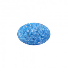 Іграшка для кішок яйце гліцеринове блакитне з бубонцем 3*4,5 см FOX XWT002-2