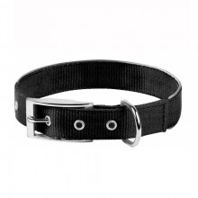 """Ошейник """"Dog Extreme"""" двойной нейлон с светоотражающей вставкой черный 20ммх30-40см COLLAR 67031"""