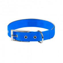 Ошейник Dog Extreme двойной нейлон с светоотражающей вставкой голубой 25 мм 38-48см COLLAR 67042