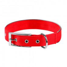 Ошейник Dog Extreme двойной нейлон с светоотражающей вставкой красный 25 мм 38-48 см COLLAR 67043