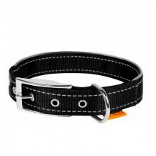 Ошейник Dog Extreme двойной нейлон с светоотражающей вставкой черный 25 мм х 38-48 см COLLAR 67041
