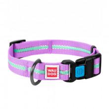 Ошейник WAUDOG Nylon светонакопительный фиолетовый 25 мм х 31-49 см COLLAR 45649