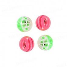 Набор игрушек для кошки 4 цветных пластиковых мячика погремушки 144 XW0001 - ИГРУШКИ