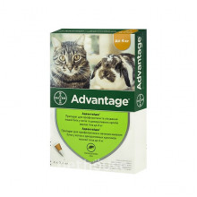 Адвантейдж №4 до 4 кг капли противопаразитарные для кошек Bayer - ИНСЕКТОАКАРИЦИДНЫЕ КАПЛИ