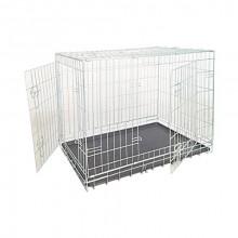 Клетка для собак две двери цинк 109*71*79 см