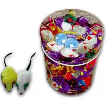Игрушка для кошек Мышь плюш Ассорти 5 см FOX NT502