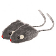 Игрушка для кошек Мышь 2 серая M002G
