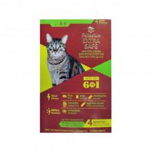 Палладиум капли Extra Safe аналог Золотая защита  для котов до 4  кг от блох и гельминтов *4