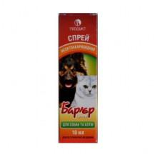Барьер супер 10 мл спрей от блох и клещей для кошек и собак Продукт