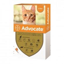 Адвокат №4 до 4 кг комплексные капли противопаразитарные для кошек Bayer - ИНСЕКТОАКАРИЦИДНЫЕ КАПЛИ