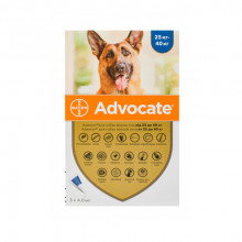 Адвокат №4 от 25 до 40 кг комплексные капли противопаразитарные для собак Bayer - ИНСЕКТОАКАРИЦИДНЫЕ КАПЛИ