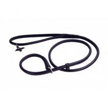 Поводок-удавка Collar SOFT круглая ширина 10мм длина 183см черная