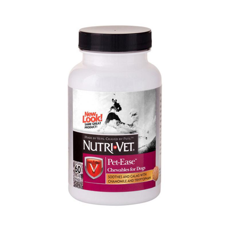 Витаминный успокаивающий комплекс Нутри-Вет «АНТИ-СТРЕСС» для собак, жевательные таблетки 60шт Nutri-vet