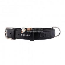 Ошейник Collar Glamour с объемной надписью ширина 35мм длина 46-60см черный 3458 1 - ОШЕЙНИКИ, АМУНИЦИЯ