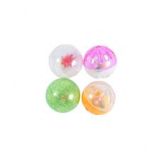 Набор игрушек для кошки 4 цветных пластиковых погремушки FOX XW0017