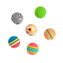 Набор игрушек для кошки 6 цветных шариков  XW530
