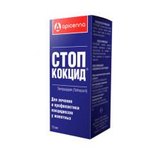 Стоп-Кокцид для собак 10 мл лечение и профилактика кокцидиоза Аpicenna Россия