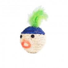 Когтеточка-шарик Мордочка с пером 6,5см FOX S2010