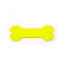 Игрушка для собак Косточка желтая с запахом ванили 12 см FOX TF-007
