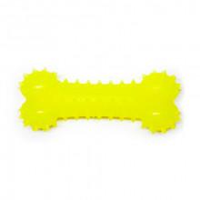 Игрушка для собак Косточка желтая с запахом ванили 15 см FOX TF-012