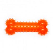 Игрушка для собак Косточка оранжевая с запахом ванили 15 см FOX TF-015