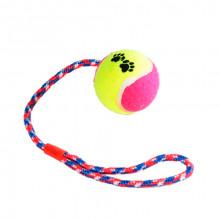 Игрушка для соб Канат-грейфер для бросания с резиновым мячем 38 см FOX XJ0168