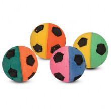 Игрушка для кошек мяч зефирный футбольный двухцветный 4,5 см в пакете 4 шт FOX BALL02N