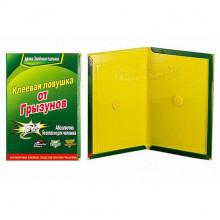 Клеевая ловушка Суперкнига большая против крыс и мышей 32*21см зелёная