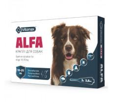 Капли от блох и клещей АЛЬФА для собак 10 – 25 кг 3,6 мл*3 Vitomax