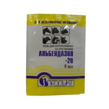 Альбендазол 20 5 мл гель антигельминтный Продукт