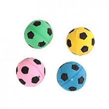Игрушка для кошек мячик зефирный футбольный 4,5 см в пакете 4 шт ОРТ41003