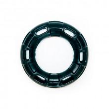 Игрушка для собак Кольцо с 6 сторонами черное с запахом ванили 12 см FOX TF-0026