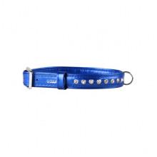 Ошейник Collar brilliance со стразами премиум класс ширина 15 мм длина 27-36см синий