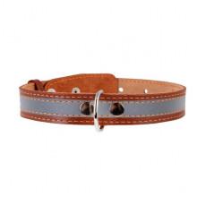 Ошейник Collar светоотражающая полоска коричневый 35 мм 48-63 cм 02986