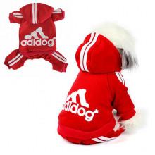Костюм на флисе Адидог для собак и кошек Adidog красный, размер М
