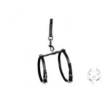 Шлея Collar 16 мм с поводком для мелких собак черная 05471
