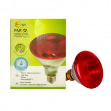 Лампа ИК 175 W 240 V Ziling PAR38 прессованое стекло красная Китай