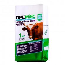 Премикс Чудо для дойных коров 1% 1 кг Якісна допомога O,L,KAR